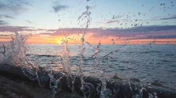 wave splash on beach